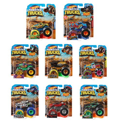 Hot Wheels Monster Trucks 1:64 Scale Vehicle Mix 5 Case