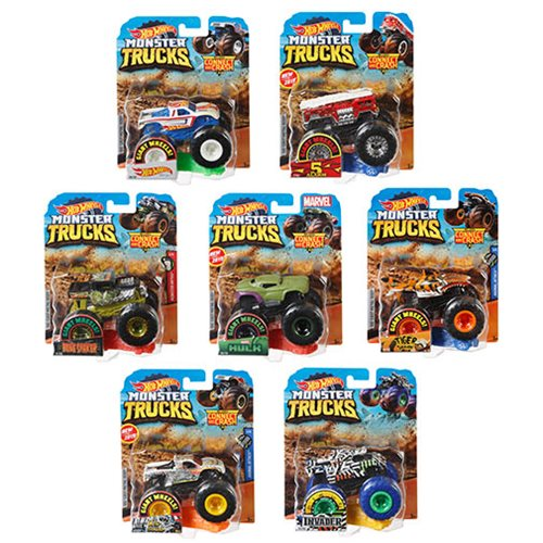 Hot Wheels Monster Trucks 1:64 Scale Vehicle Mix 6 Case