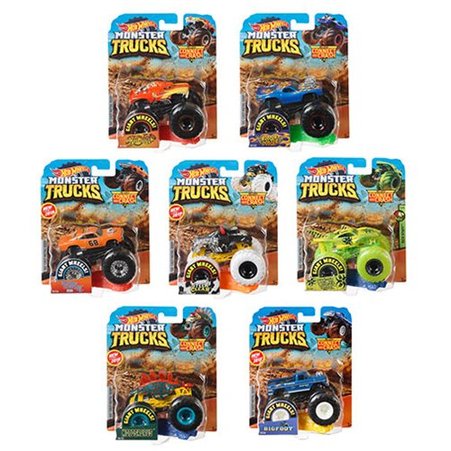 Hot Wheels Monster Trucks 1:64 Scale Vehicle Mix 7 Case