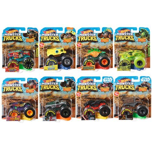 Hot Wheels Monster Trucks 1:64 Scale Vehicle Mix 10 Case