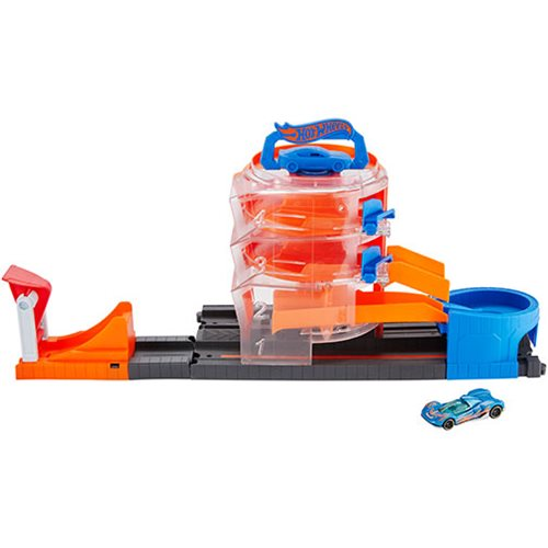 Hot Wheels City Super Spin Dealership Playset