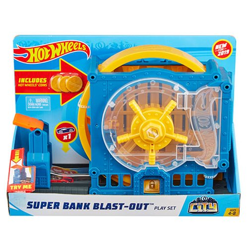 Hot Wheels City Super Bank Breakout Playset