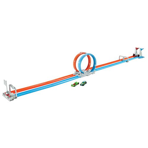 Hot Wheels Action Double Loop Dash Track Set