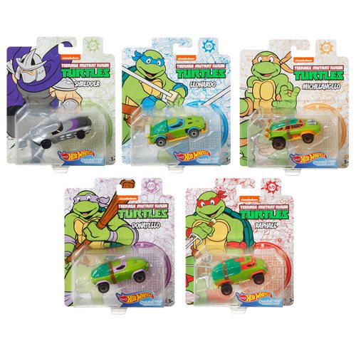 Hot Wheel TMNT Character Car Mix 2 Vehicle Case