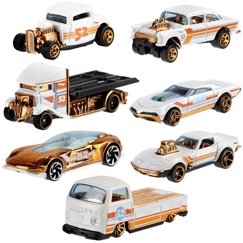 Hot Wheels Pearl and Chrome Vehicles Case