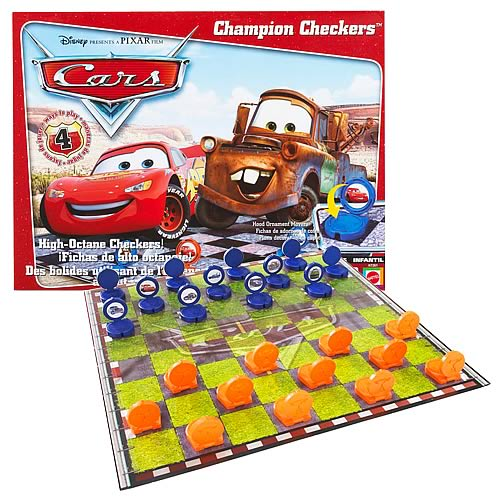 Pixar Cars Checkers Game