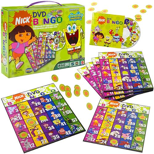 Nickelodeon DVD Bingo Game