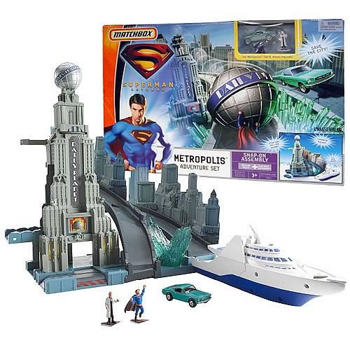 Superman Returns Matchbox Cars Metropolis Adventure Set