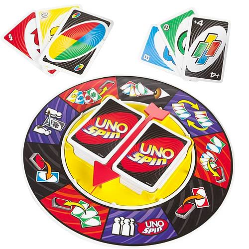 uno spin card game mattel games games at entertainment earth item archive. Black Bedroom Furniture Sets. Home Design Ideas