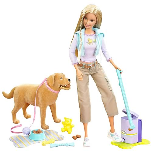 Barbie Doll and Tanner Scooper Dog Set. Barbie Doll and Tanner Scooper Dog Set   Mattel   Barbie   Dolls
