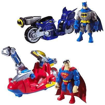 DC Super Friends Batman and Superman Vehicle Case