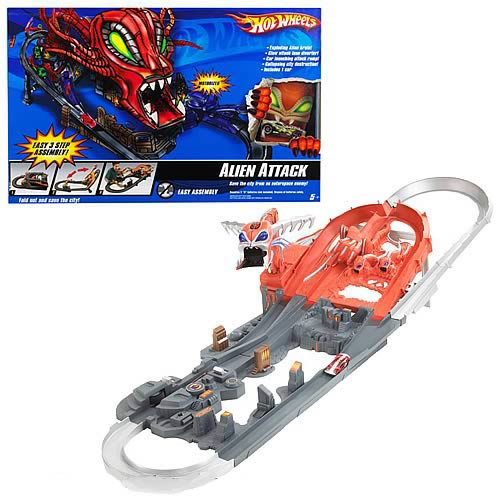 Hot Wheels Alien Attack Track Set