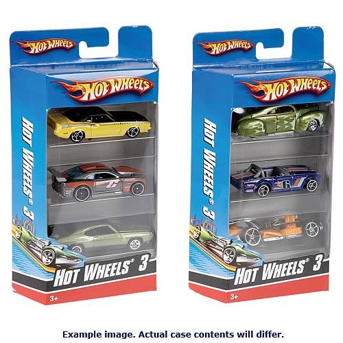 Hot Wheels 3-Pack Die-Cast Vehicles Case