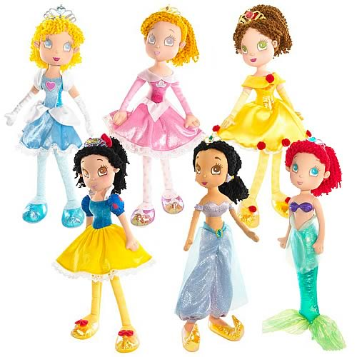 Disney Princess Cuddly Soft Dolls Wave 1 Revision 1 Case
