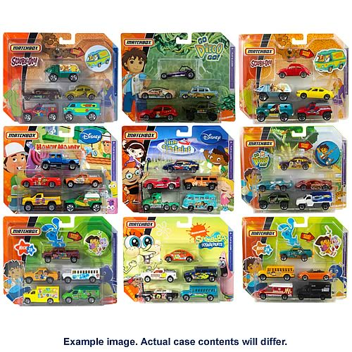 Matchbox TV 5-Pack Vehicles Wave 7 Case