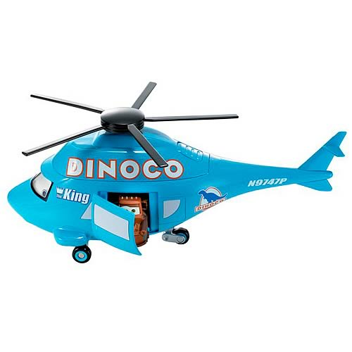 Pixar Cars Dinoco Helicopter Carrying Case
