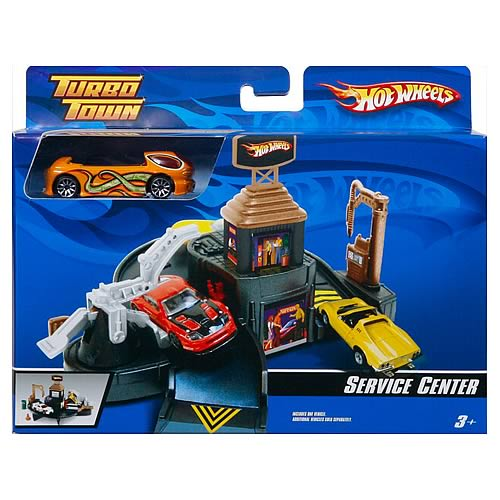 Hot Wheels Turbo Town Service Center Playset