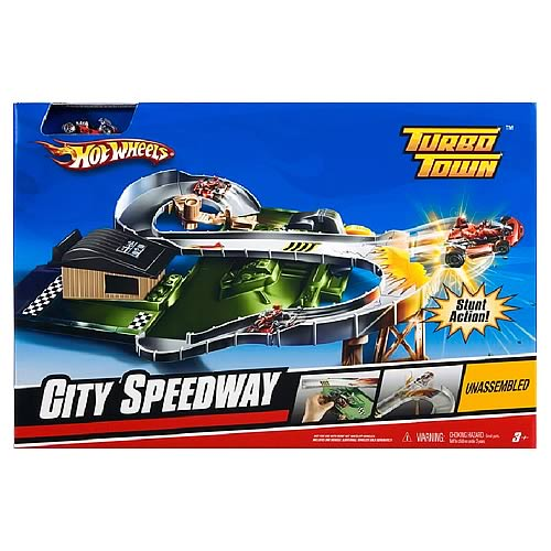 Hot Wheels Turbo Town City Speedway Playset