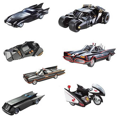 Batman 1:50 Scale Vehicles Wave 4 Rev. 2 Set