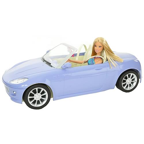 Barbie Convertible Car & Doll Set