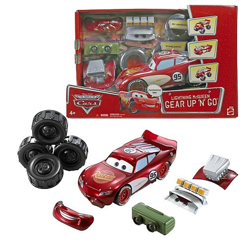 Pixar Cars Gear Up and Go Lightning McQueen Vehicle