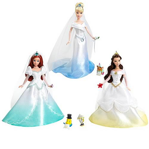 Disney Princess Fairytale Wedding Dolls Wave 1 Set