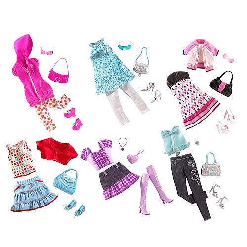 Barbie Doll In Pink Dress With Shoes And Accessories