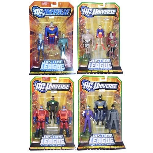 Justice League Unlimited Figure 2010 3-Pack Wave 2 Case