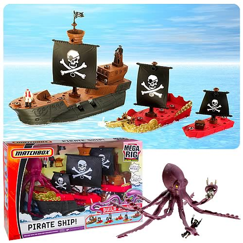Matchbox Mega Rig Pirate Ship Building System