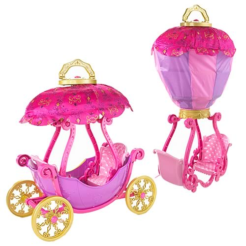 Barbie Three Musketeers Magical Balloon Carriage Playset, NM