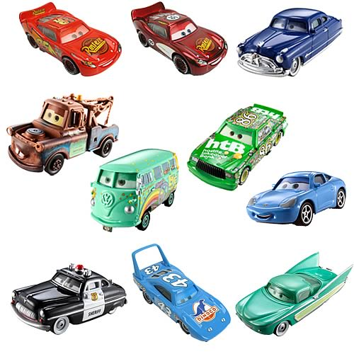 Pixar Cars Character Cars with Eyes Wave 1 Case