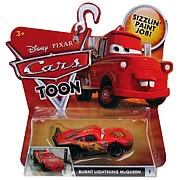 Pixar Cars Toon Character Burnt Lightning McQueen Vehicle