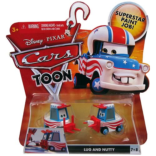Pixar Cars Toon Character Lug and Nutty Vehicles