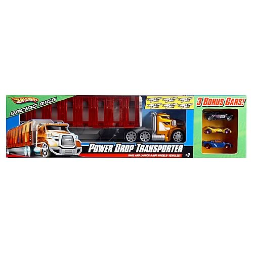 Hot Wheels Power Drop Transporter with Bonus Cars