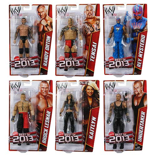 WWE Basic Figure Best of 2013 Revision 1 Action Figure Case - Mattel ...