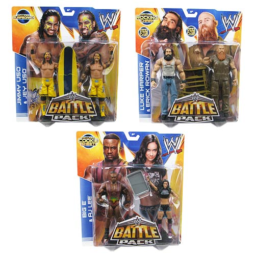WWE Basic 2-Pack Series 28 Revision 1 Action Figure Set