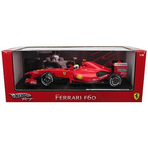 Hot Wheels Ferrari 2009 F60 Racing Line 1:18 Scale Massa Car