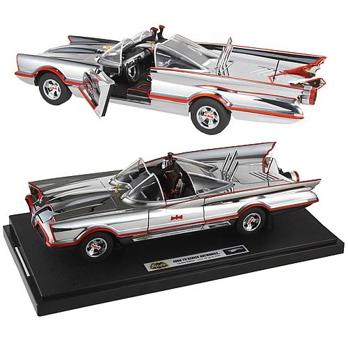 Batman Hot Wheels 1966 1:18 Scale Elite Chrome Batmobile