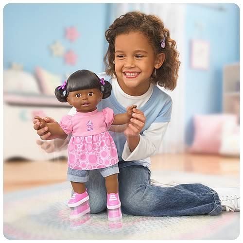 Little Mommy Play All Day African American Doll