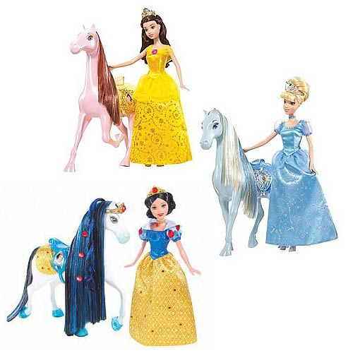 Disney Sparkling Princess Doll & Royal Horse Assortment Case