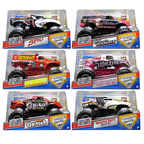 Hot Wheels Monster Jam 1:24 Scale Wave 4 Case