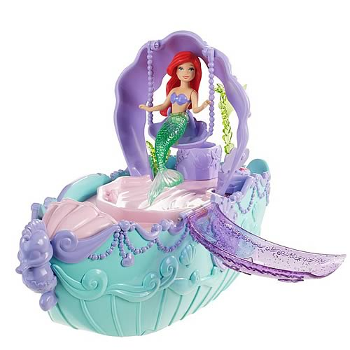 Little Mermaid Ariel Fountain and Bubble Boat