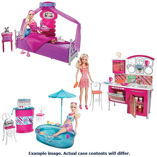 Barbie Deluxe Furniture And Doll Case Mattel Barbie Dolls At Entertainment Earth