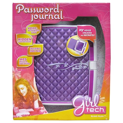 Girl Tech Password Journal Electronic Diary Journal