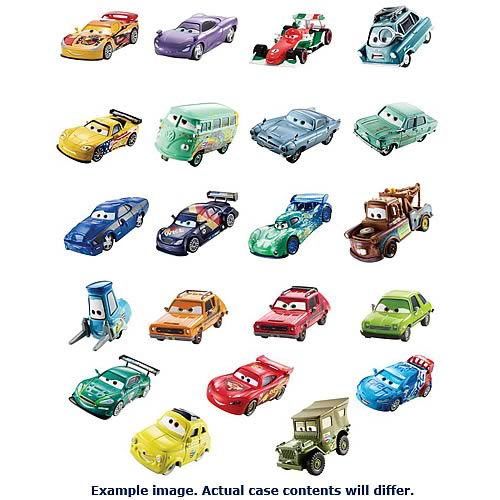 Cars 2 Character Die-Cast Vehicles Wave 7 Case