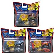 Cars 2 Action Agents Vehicles with Launcher Wave 1 Case