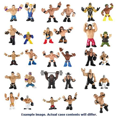 WWE Rumblers Wave 7 Mini-Figure 2-Pack Case