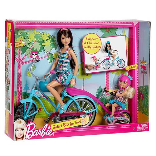 Barbie Sisters Bike for Two Vehicle and Doll Set
