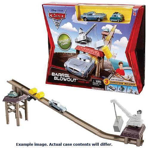 Cars 2 Action Agents Trackset and Vehicles Wave 1