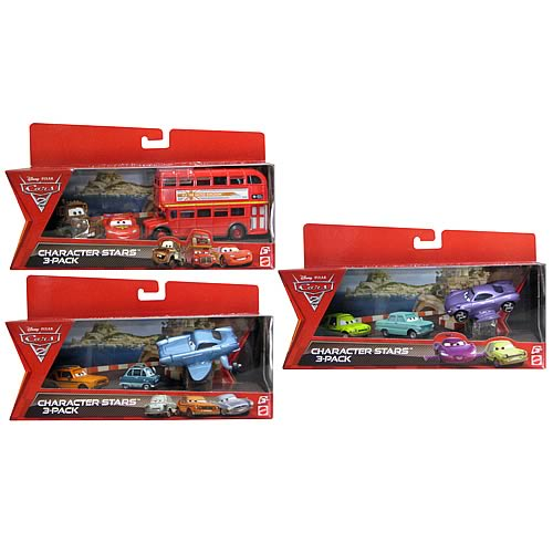 Cars 2 Character 3-Pack Die-Cast Vehicles Wave 1 Case
